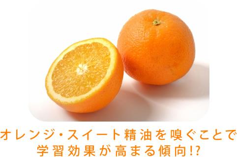オレンジ・スイート精油を嗅ぐことで 学習効果が高まる傾向!?